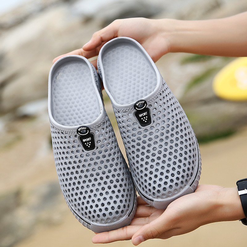 Marlong 2018 Jelly Hollow Men Women House Shoes Women Home Slippers Flip Flops Female Croc Room Indoor Slippers Slides