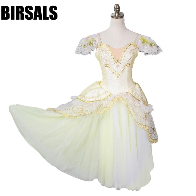 Gold Queen Ballet Long Tutu Dress BT8902 Women Professional Ballet Tutus Pink Romantic Tutu Ballet Stage Costume