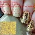 BearPaw 1 лист новый женский золотой блестящий стикер дизайн ногтей Блестящий Полный Чехол Цветущий цветок дизайн DIY передача большие наклейки - фото