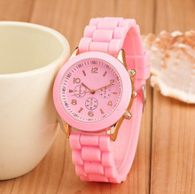12 colors Fashion Brand Women Dress Casual Geneva Watch sport Quartz Silicone Watches Relogio feminino reloj hombre