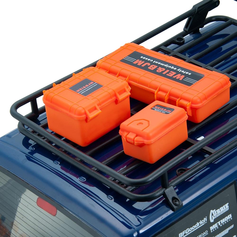 3Pcs/set Plastic RC Car Storage Box Decoration Tool For Traxxas TRX4 Axial SCX10 90046 D90 1/10 RC Crawler Accessories