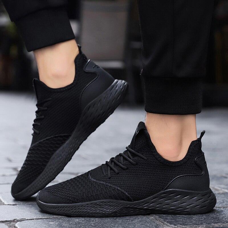 US $22.49 |Neue Herren Designer Mesh Schuhe Atmungsaktiv Männer Turnschuhe Männlichen Schuhe Erwachsene Schwarz Grau Hohe Qualität Angenehm Weichem