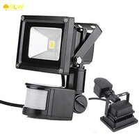 GLW 12V 10W PIR Floodlight LED projector with motion sensor projecteur led exterieur avec capteur Led outdoor motion sensor