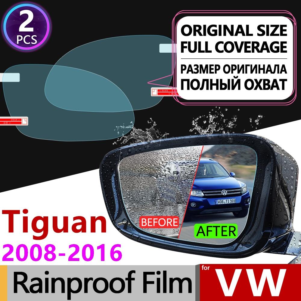 For Volkswagen VW Tiguan MK1 2008 - 2016 Full Cover Anti Fog Film Rearview Mirror Rainproof Anti-Fog Films Clean Car Accessories