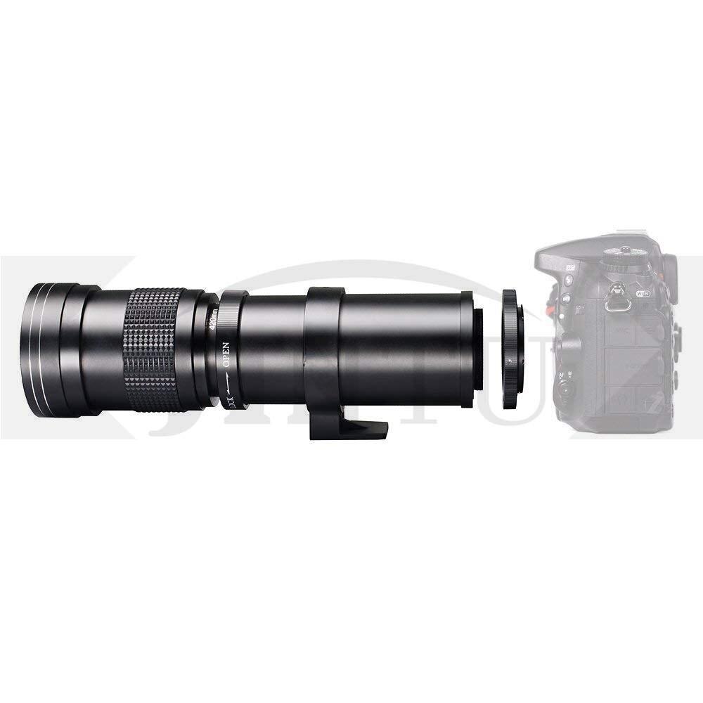 JINTU 420-800mm F/8.3-16 Telephoto Zoom Lens For Nikon DSLR Camera D5100 D5300 D5200 D7500 D3300 D3400 D3200 D90 D7200 D5600 D3X
