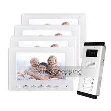 FREE SHIPPING Brand 7 Color Video font b Door b font Phone Intercom System 4 Monitors