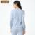 Qianxiu marca primavera Pijama mulheres moda algodão manga comprida Floral impressão Pijama Femme Pijama 2 pcs Set Ladies salão Sleepwear