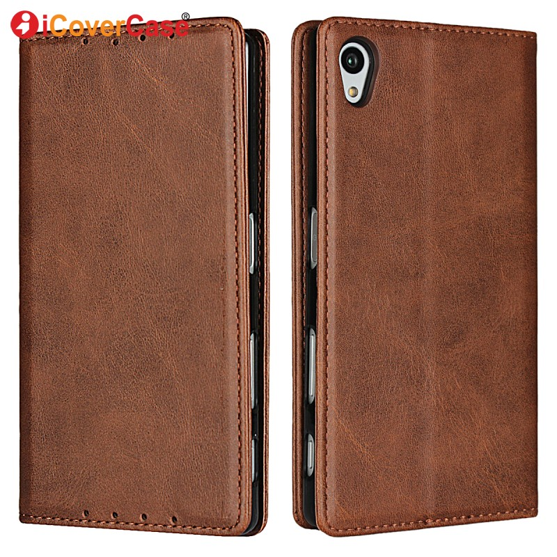 Magnetic Cases For Sony Xperia Z5 Leather Wallet Soft Cover Mobile Phone Accessory For Sony E6683 E6653 Flip Case Coque Etui