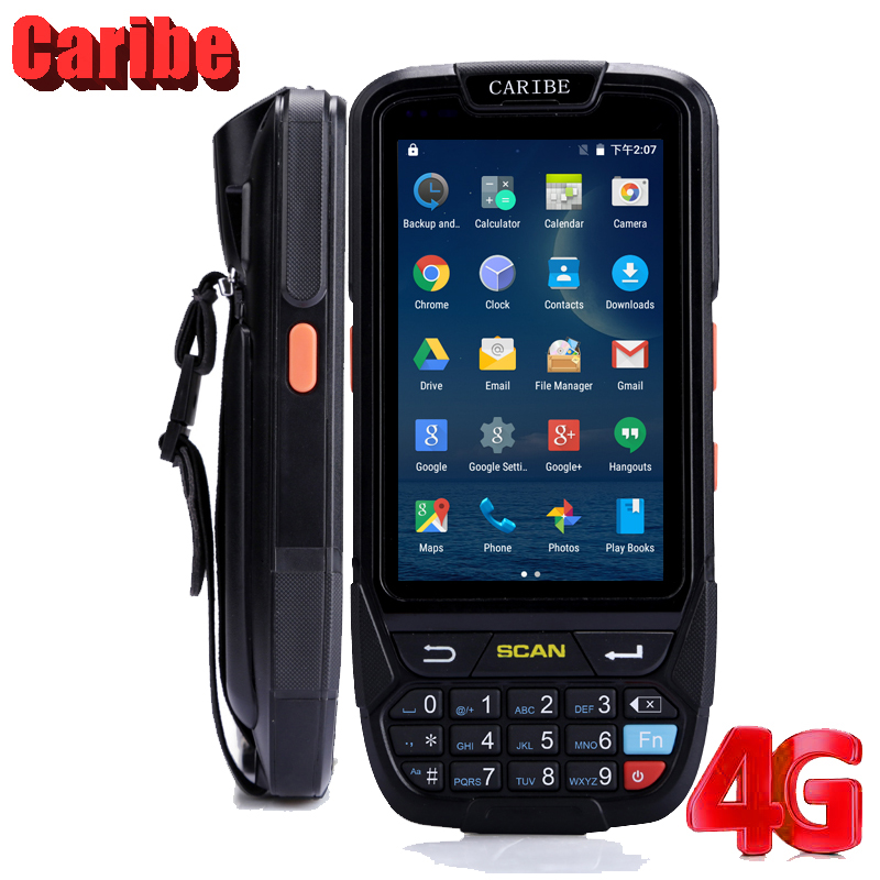 Caribe PL 40L Industrial PDA Handheld Terminal with 4 inch Touch Screen 2D Laser Barcode Scanner IP65 Waterproof