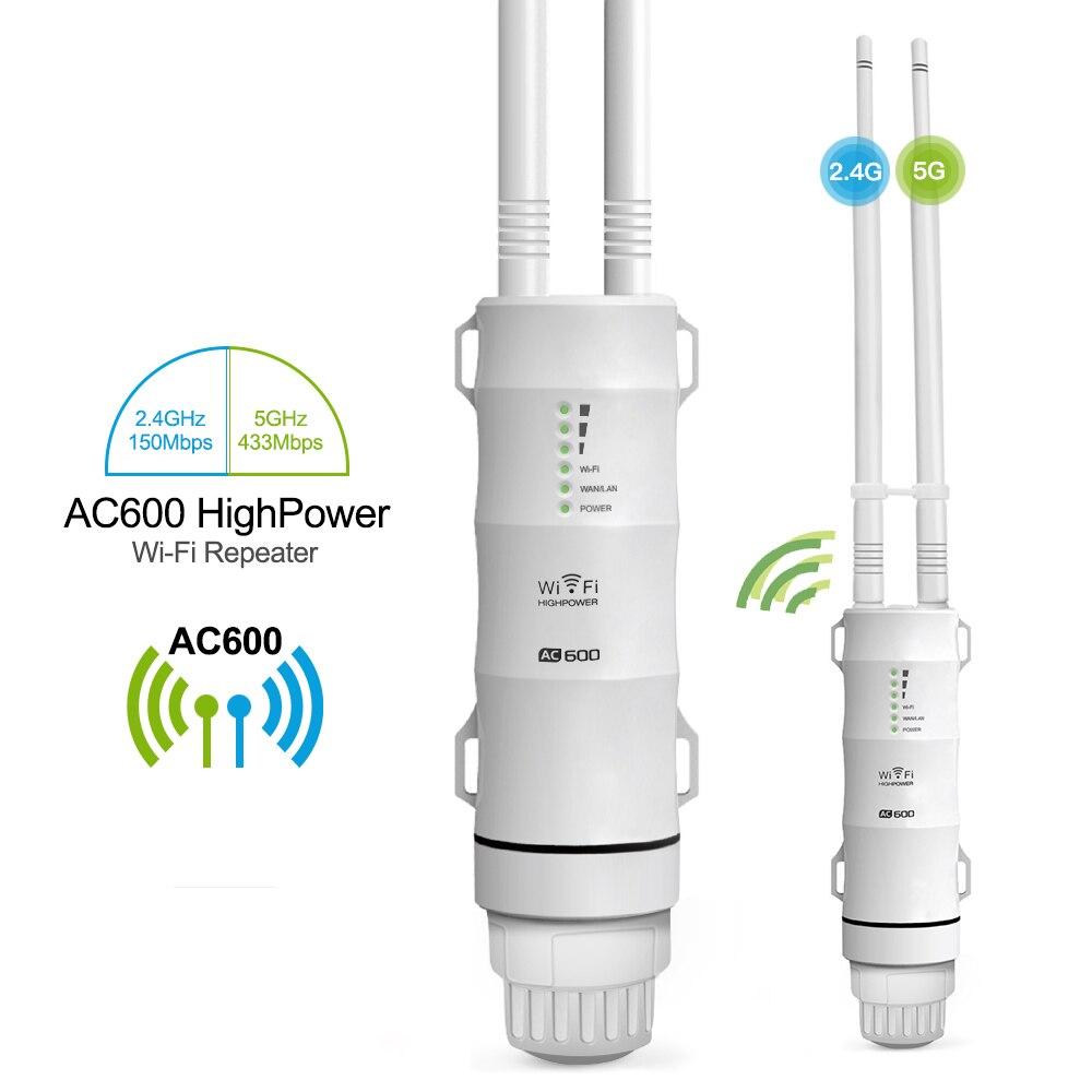 Al aire libre repetidor WiFi AC600 Router Wi-Fi extensor del WIPS Wi-Fi Punto de Acceso amplificador impermeable 2,4G + 5 GHz de alta AMPLIFICADOR DE POTENCIA