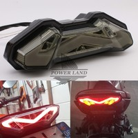 For YAMAHA FZ 09 MT 09 FJ 09 MT09 Tracer 2013 2017 Motorcycle Integrated LED Tail Light Turn signal Blinker Assembly Clear/Smoke
