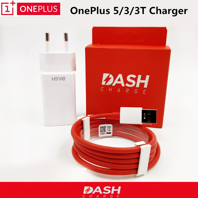 100% Original ONEPLUS 5 Dash charger One Plus 3 3t Mobile phones 5V/4A EU liteon G8 Usb Adapter Quick Charging Cable