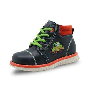 Image 3 - Apakowa İlkbahar sonbahar erkek çocuk çocuk ayakkabı Pu deri ayak bileği yürümeye başlayan çocuk botları çocuk moda Zip Martin çizmeler katı ayakkabı