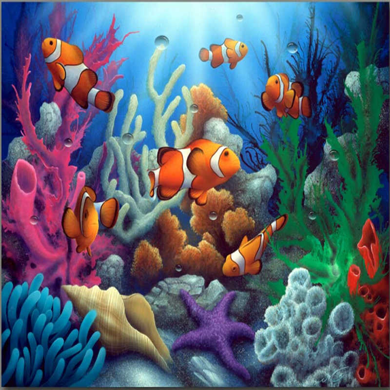 Lucky colorful fish painting by numbers vintage home decor wall art pictures oil painting on canvas cuadros decoracion M613