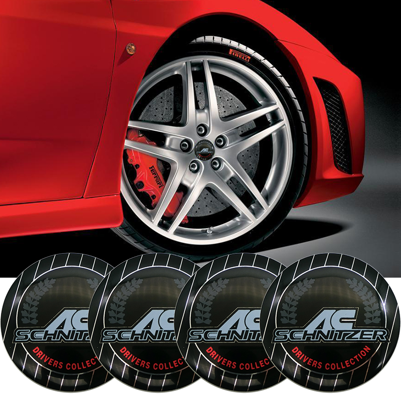 4PCS 56.5mm Car Wheel sticker Hub <font><b>cap</b></font> labeling Emblem Sticker styling For <font><b>BMW</b></font> AC Schnitzer E46 E39 <font><b>E90</b></font> E36 E34 F10 F15 E53 X5 X6 image
