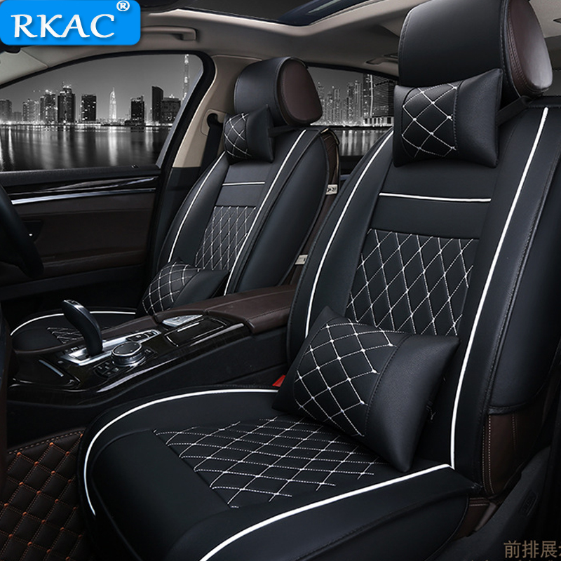 Front Rear Special Leather font b Car b font Seat Cover for Jac All Models