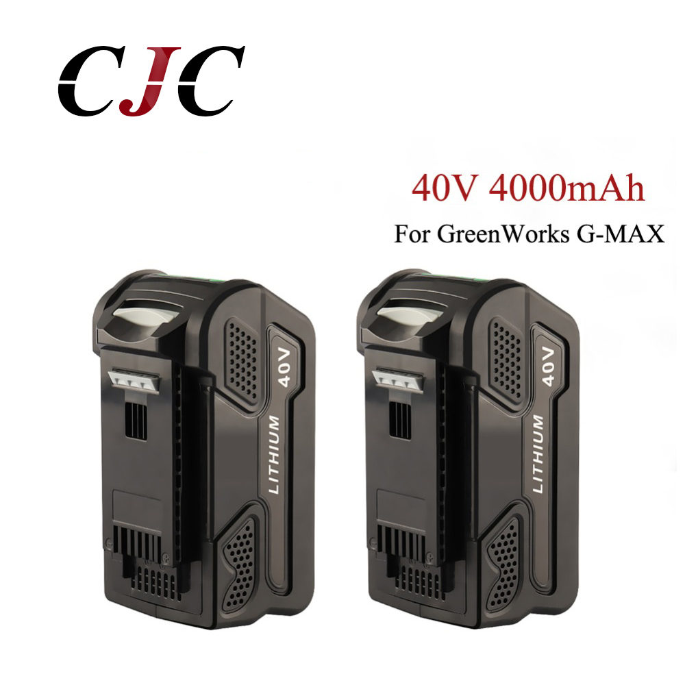2PCS 40V 4000mAh Li-ion Battery for GreenWorks 40V G-MAX Power Tools 29252 29472 20202 22262 25312 25322 22272(Not for Gen 1) 2PCS 40V 4000mAh Li-ion Battery for GreenWorks 40V G-MAX Power Tools 29252 29472 20202 22262 25312 25322 22272(Not for Gen 1)