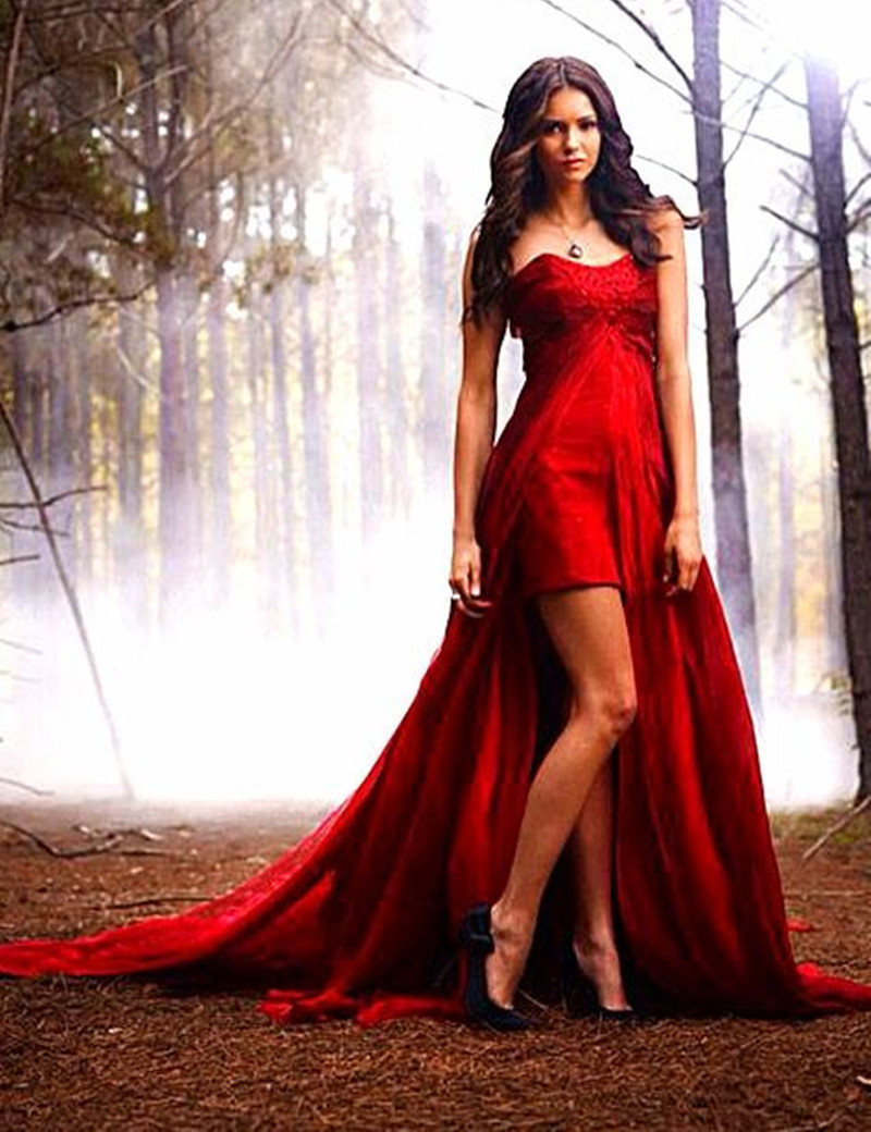 Dark Red High Low Prom Dress Elegant Beaded Chiffon Prom ...Red High Low Prom Dresses 2013