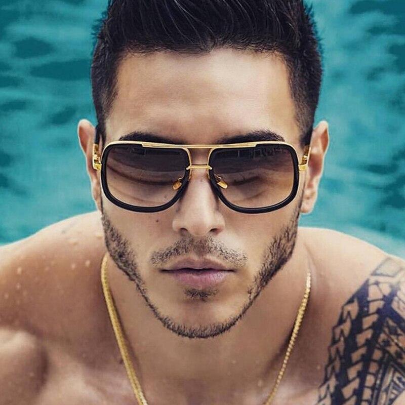 Clássico oversized masculino óculos de sol marca de luxo mulher mach um óculos de sol quadrado retro óculos de sol uv400 espelho masculino