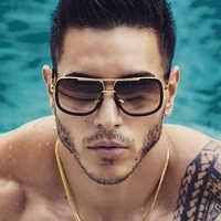 Classique surdimensionné hommes lunettes de soleil marque de luxe femmes mach one lunettes de soleil carré rétro Oculos de sol mâle UV400 miroir lunettes