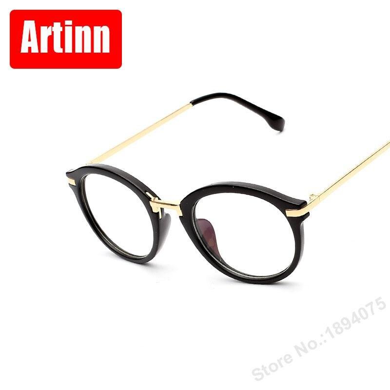 Mulher vidros ópticos quadros Bonitos óculos redondos preto quadro  anti-azul óptico óculos de nerd 97990FK e1b76a7d5e