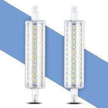 118mm R7S LED Lamp 78mm 2835 Light Bulb LED Tube Lamp 5W 10W 12W 15W 135mm LED R7S Lamp 189mm 85-265V Replace Halogen Home Light 5pcs lot 409782 gz4 ph 6v15w halogen bulb 13528 germany projection lamp microscope light source 6v 15w smooth reflector