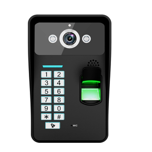 "Image 2 - 7 ""אינץ RFID טביעות אצבע מצלמה וידאו דלת הטלפון אינטרקום פעמון עם IR CUT IR קו טלוויזיה HD 1000 מערכת בקרת גישה מרחוק"