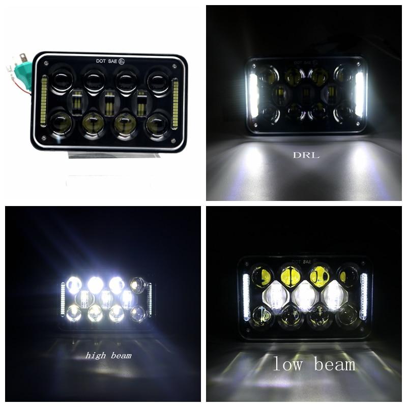 Black 4X6 48W Rectangular LED Headlights DRL for Kenworth T800 T400 T600 Peterbilt 357 378 379 FREIGHTLINER 112 120 Western Star кухонная мойка ukinox stm 800 600 20 6