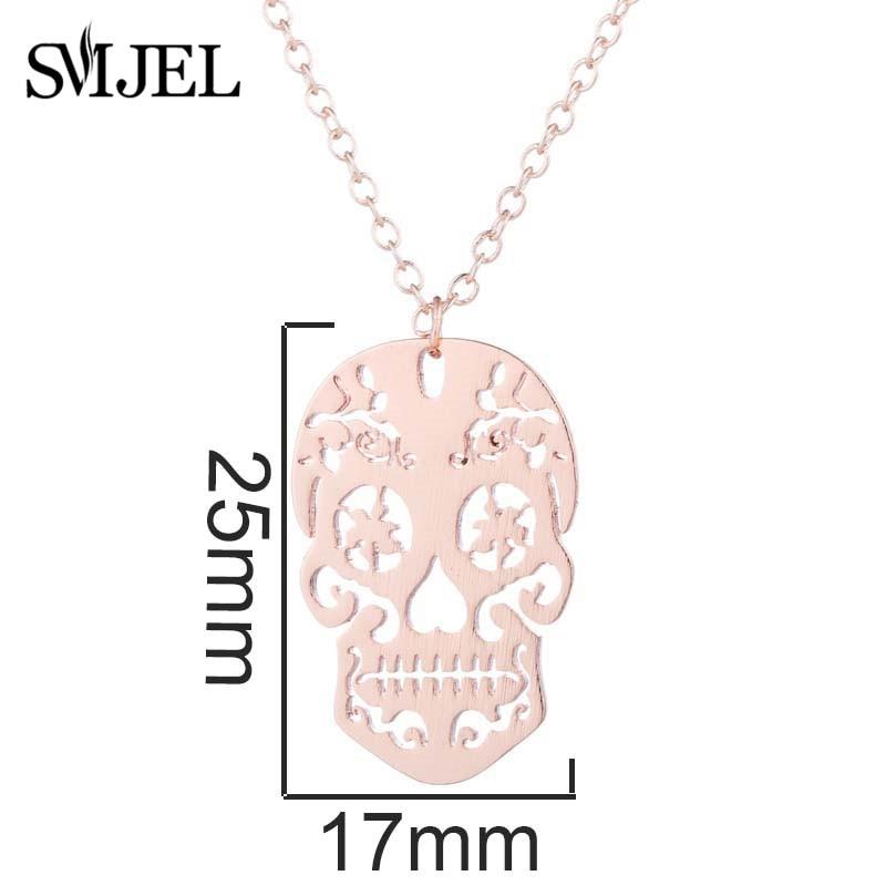 Vintage Skeleton Pendant Necklace Women 1