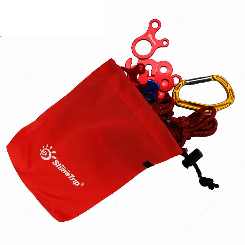 Outdoor equipment receiving bag sundries wind rope buckle small accessories finishing portable pocket staff hiking edc gear