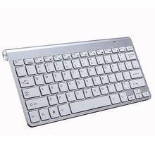 Przenośne klawiatura bezprzewodowa klawiatura dla komputerów Mac Notebook Laptop TV box 2.4G Mini zestaw mysz i klawiatura materiały biurowe dla IOS Android Win 7 10