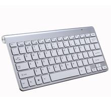 Teclado inalámbrico portátil para Mac portátil caja de TV 2,4G Mini teclado y ratón de suministros de oficina para IOS Android ganar 7 10