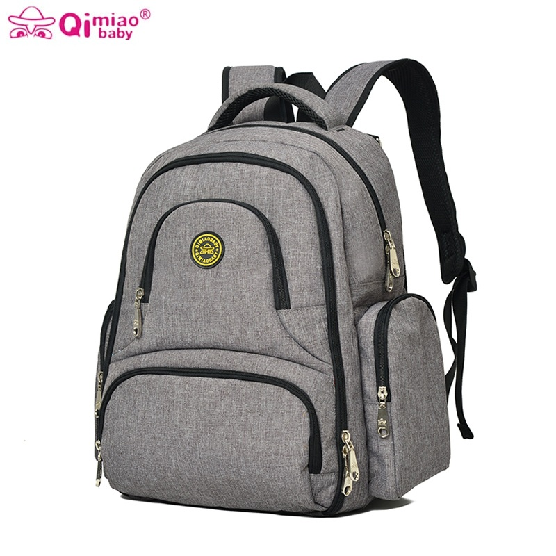 Qimiaobaby baby backpack organizer stroller mommy mummy travel changing nappy diaper bag nursing bags for mom mochila maternal wxd mommy baby diaper bag large capacity waterproof baby nappy nursing bag fashion travel backpack baby care bag for stroller