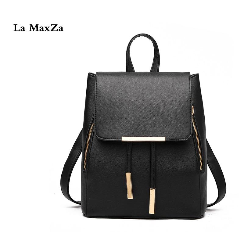 La MaxZa Women Backpack Purse PU Washed Leather Large Capacity Ladies Rucksack Shoulder Bag Girls Fashion Leisure Backpacks