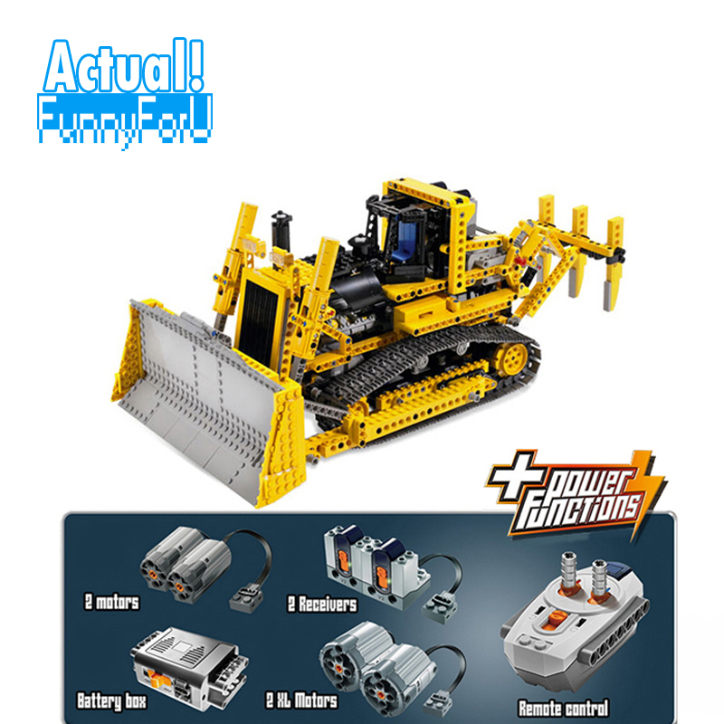 LEPIN 20008 Motorized Bulldozer Technic Building Blocks Bricks Toys For Children brinquedos 1384PCS Compatible legoINGly 8275 цена