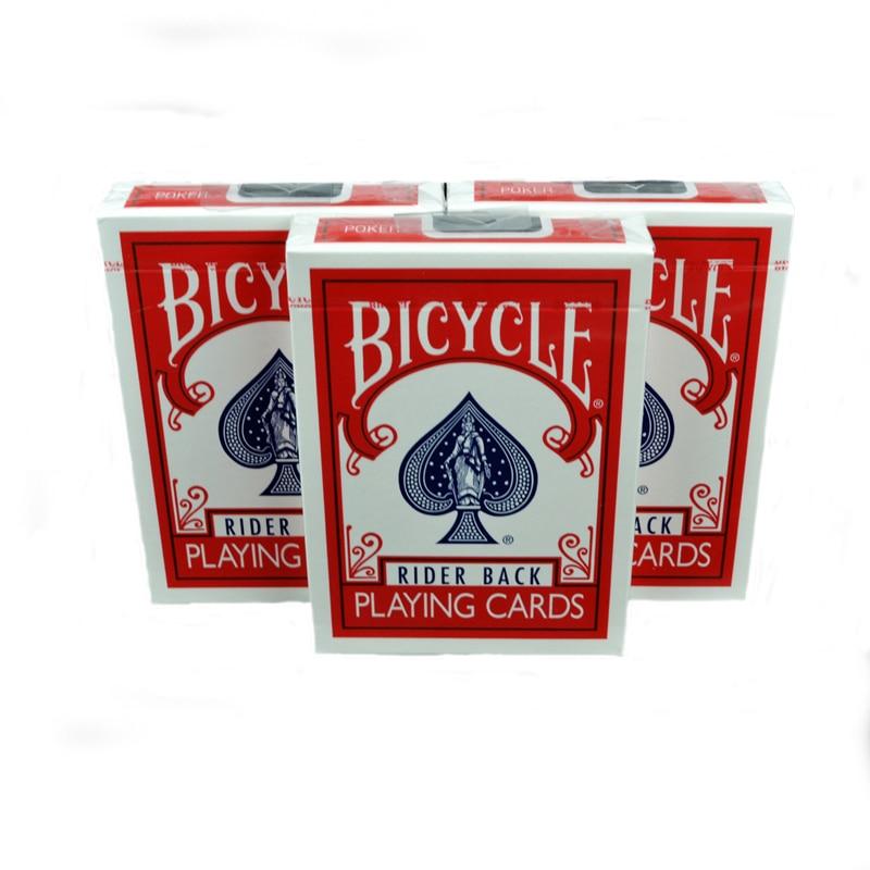 Cykelpoker Spelkort Däck Rider Tillbaka Gratis Fraktkort Magic Tricks Leksaker Flipper Fan
