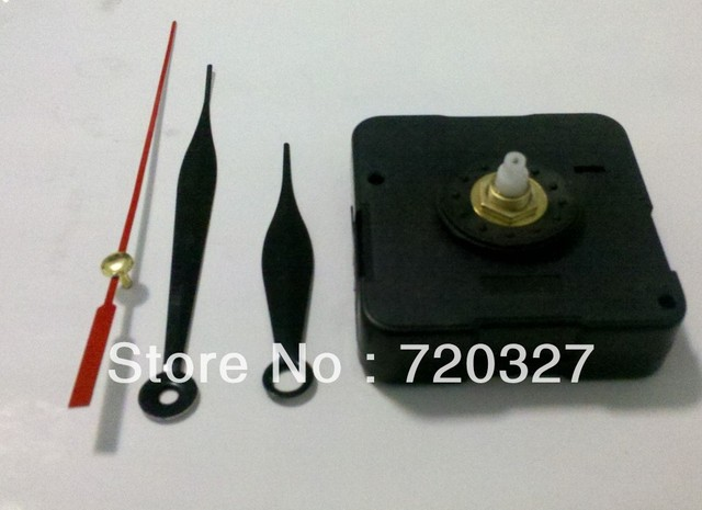 whole sale clock movement kit movement clock mechanism for wall clock 20pcs/lot,including three hands washer nut