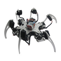 RC Toy 18DOF Aluminium Hexapod Spider Six Legs Robot Kit With MG996R Servos And Controller Full