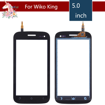 5.0 For Wiko Cink King LCD Touch Screen Digitizer Sensor Outer Glass Lens Panel Replacement Black for wiko u feel lite glass wiko u feel go tempered glass on wiko u feel fab screen protector wiko ufeel prime glass 0 26mm film