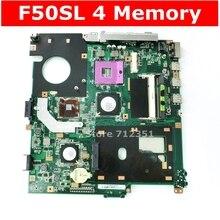Материнская плата F50SL REV: 2,1 Для ASUS X61S F50S F50SL материнская плата для ноутбука F50SL материнская плата F50SL тест 100% ОК