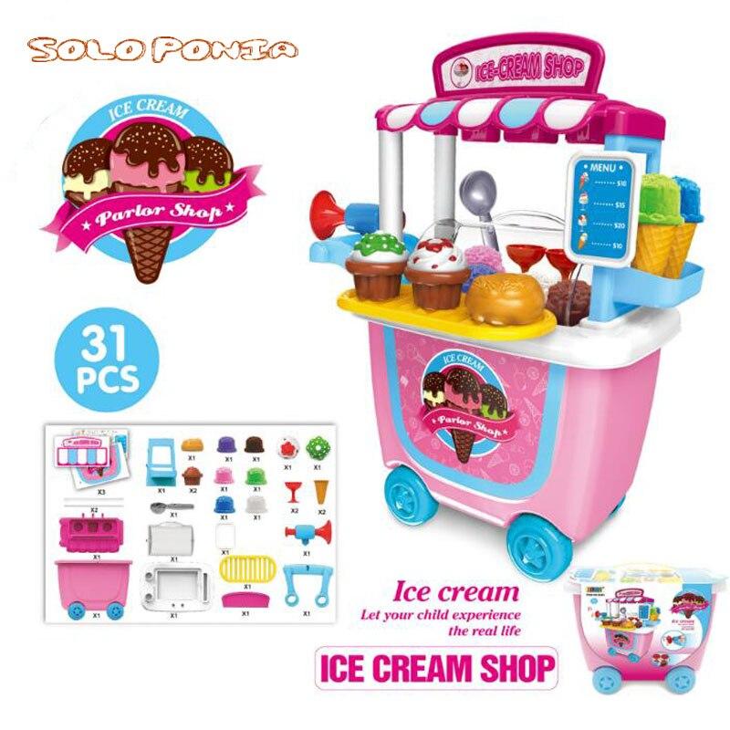 Miniature Cart Ice Cream Dessert Lollipop Baby Kitchen