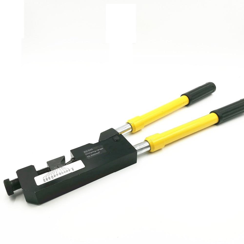 KH-230 Mechanical Crimping Clamp Crimp 10-240 MM2 Terminal Handle Retractable Long Handle Crimping Pliers