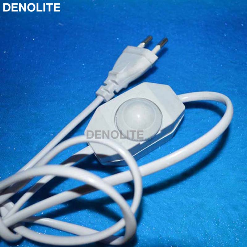 Adjustable controller diy led dimmer switch for table light floor european vde approval 18m eu wire clearwhiteblack cable with 2 round greentooth