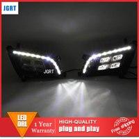 car styling 2013 2014 For Kia K5 LED DRL For Kia K5 led fog lamps daytime running light High brightness guide LED DRL