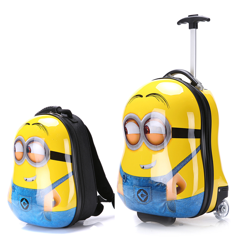 2PCS/Set child anime School bag Tourism boy luggage suitcase ...