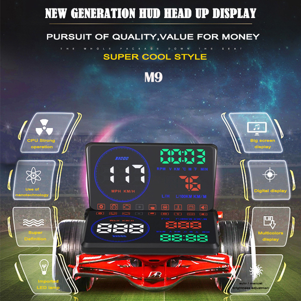 Universal Car HUD Head UP Display GPS Speedometer Windshield Digital Car Speed Projector Overspeed Alarm For All Vehicle New