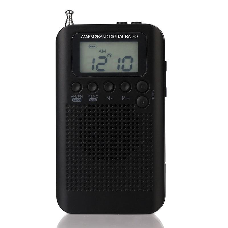 Radio Tragbares Audio & Video Gutherzig Mini Lcd Digital Fm/am Radio Lautsprecher Mit Zeit Display Funktion 3,5mm Mini Tragbare Radio Handheld Digital Fm Lautsprecher-player Ohne RüCkgabe
