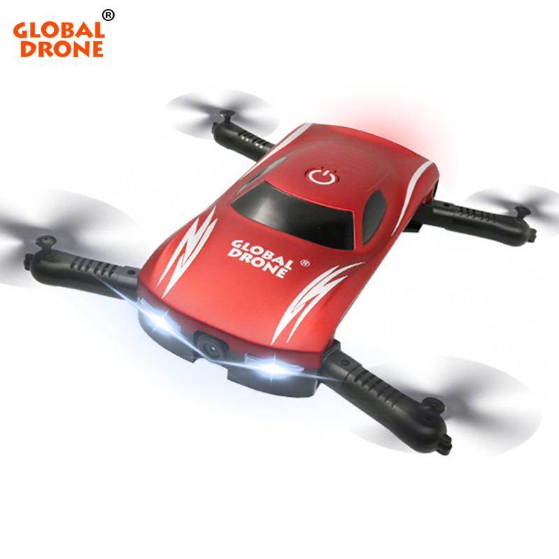 Global Drone Professional Foldable Quadrocopter Wifi FPV Selfie Dron Gravity Sensor Control Pocket Drones with Camera