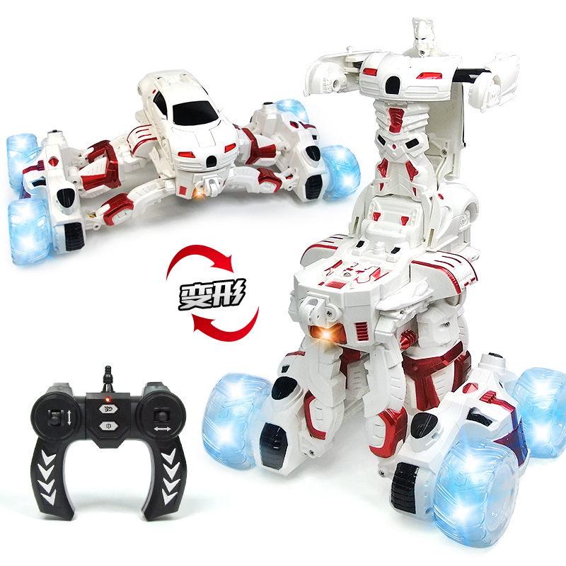 RC Car Electric Transformation Robots Deformation Car Remote Control Stunt Robots Rechargeable Sports Car Toys For Children цены