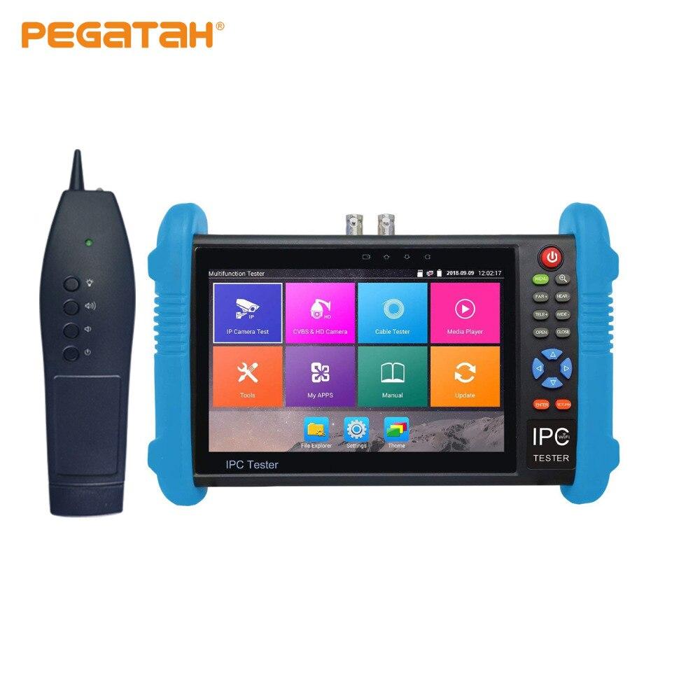 7 pouces H.265 4 K IP Caméra CCTV Testeur moniteur Analogique testeur de caméra soutien wifi Intégré TDR UTP RJ45 câble test cctv testeur